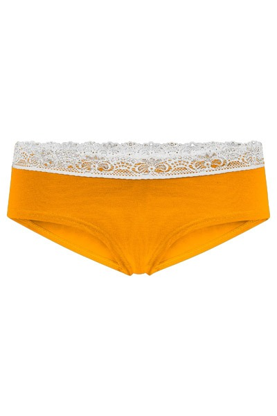 Bio hipster panties Spitze saffron