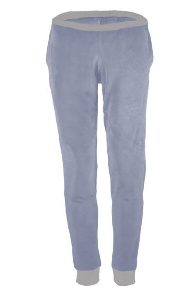 Organic velour pants Hygge light blue