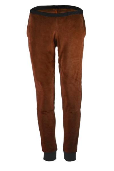 Organic velour pants Hygge brown black