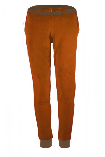 Organic velour pants Hygge caramell brown