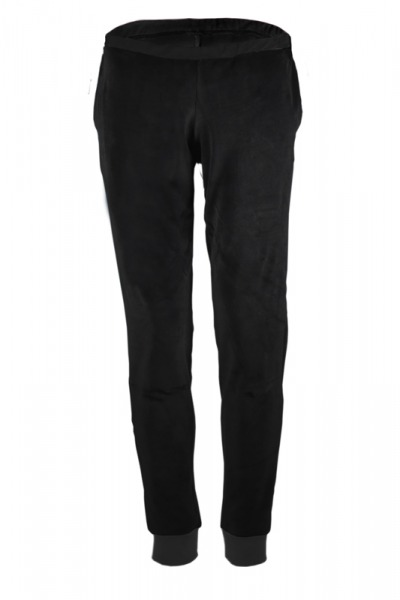 Organic velour pants Hygge black black