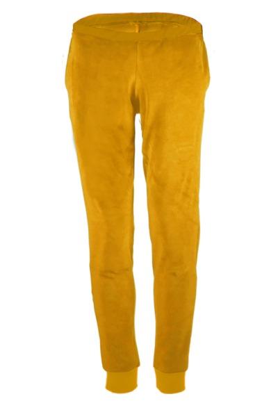 Organic velour pants Hygge mustard yellow