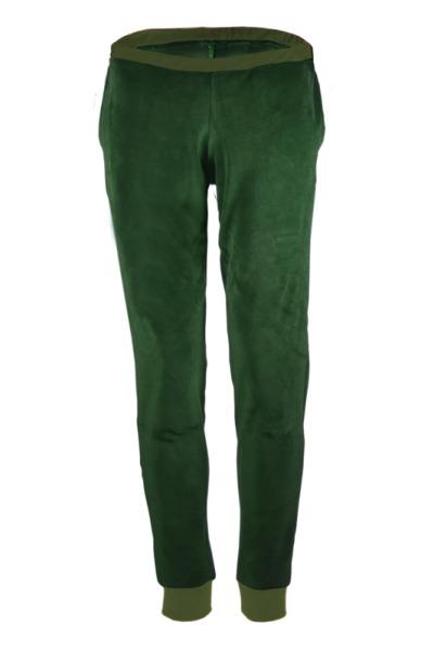 Organic velour pants Hygge smaragd green