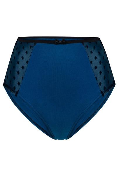 Organic hight waist knickers Lorehigh blue