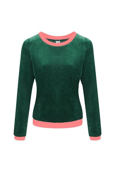 Bio Nicki Pullover Onne smaragd rosa