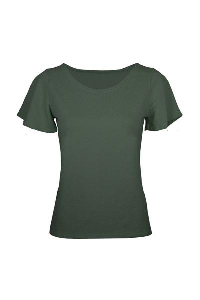 Organic t-shirt Vinge anthracite grey