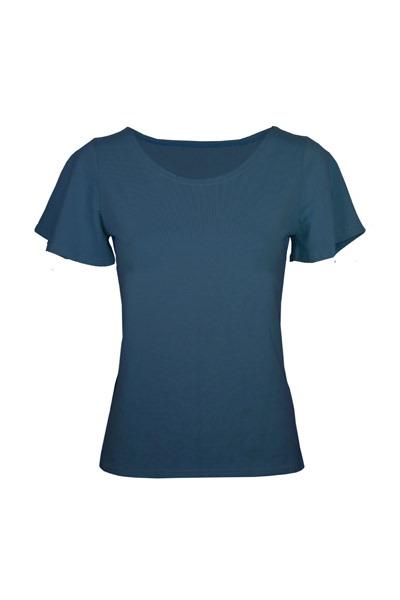Organic t-shirt Vinge indico blue