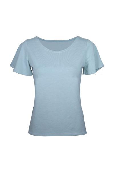 Organic t-shirt Vinge light blue