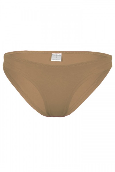 Organic briefs cinder brown