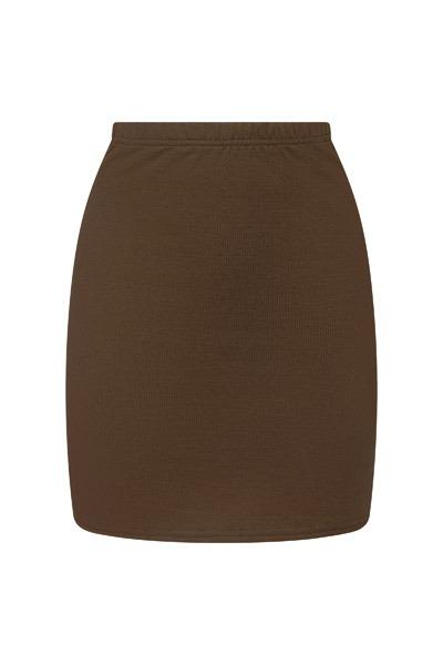 Organic skirt Snoba brown