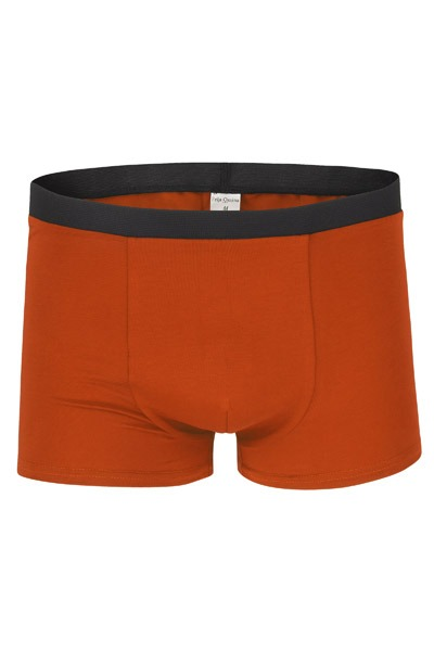 Organic men s trunk boxer shorts rust