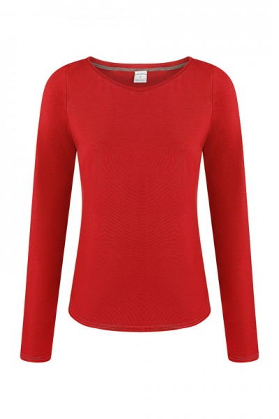 Organic long sleeve Ubu red