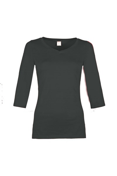 Organic quarter sleeve shirt Winda anthracite