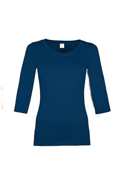 Organic quarter sleeve shirt Winda dark