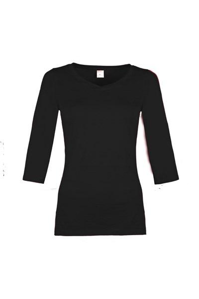 Organic quarter sleeve shirt Winda black