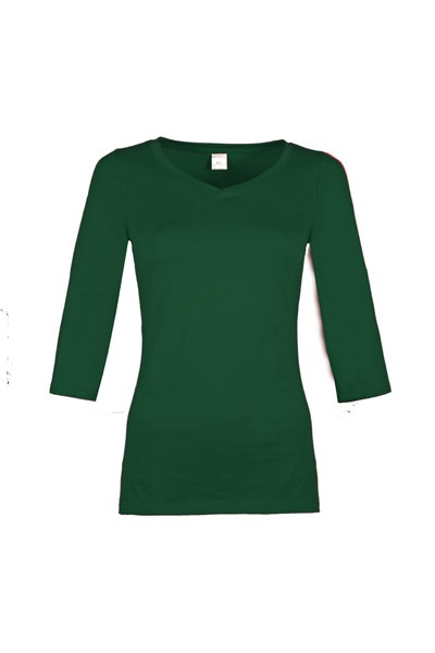 Organic quarter sleeve shirt Winda smaragd