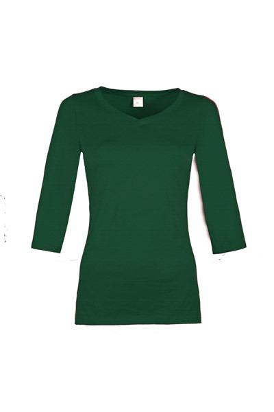 Bio 3/4 Arm- Shirt Winda smaragd