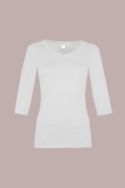 Bio 3/4 Arm- Shirt Winda weiß