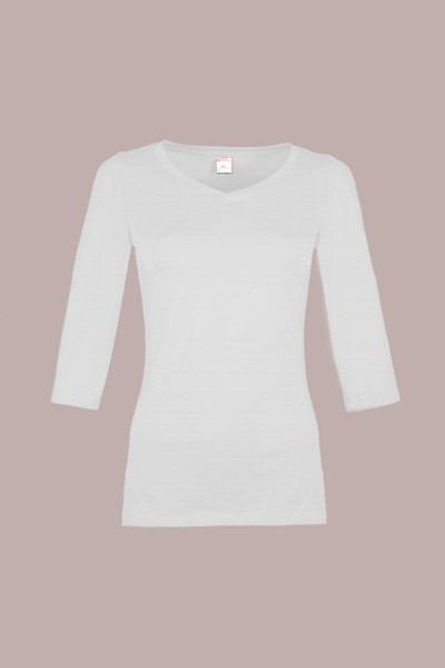Organic quarter sleeve shirt Winda white