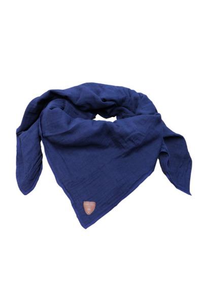 Musselin-Tuch / Mull-Halstuch Skarna dunkelblau