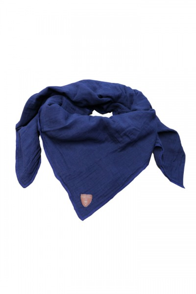 Musselin-Cloth/ Mull-Bandanna Skarna dark blue