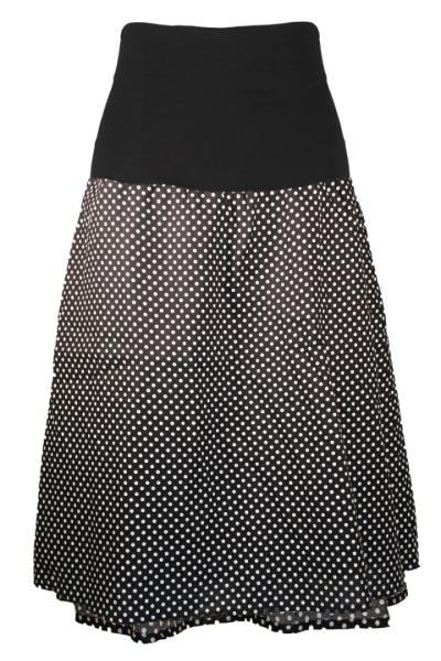 Organic skirt Freudian black with little