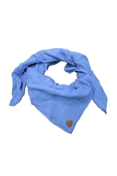 Musselin-Tuch / Mull-Halstuch Skarna hellblau