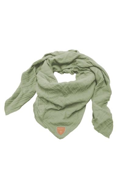 Musselin-Cloth/ Mull-Bandanna Skarna light grey