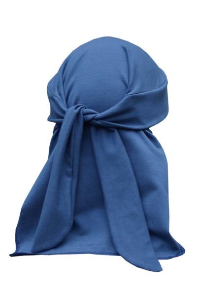 Organic pirate bandanna Skallig indigo blue