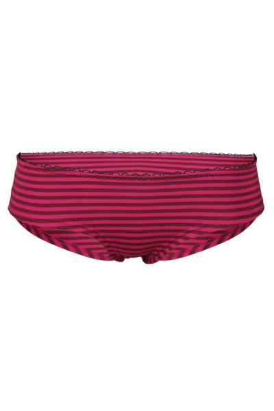 Bio hipster panties berry aubergine stripes