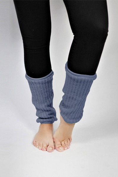 Organic knitted gaiters blue