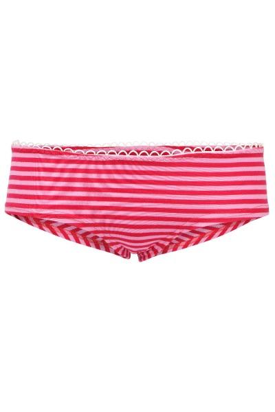 Bio hipster panties rose pink stripes