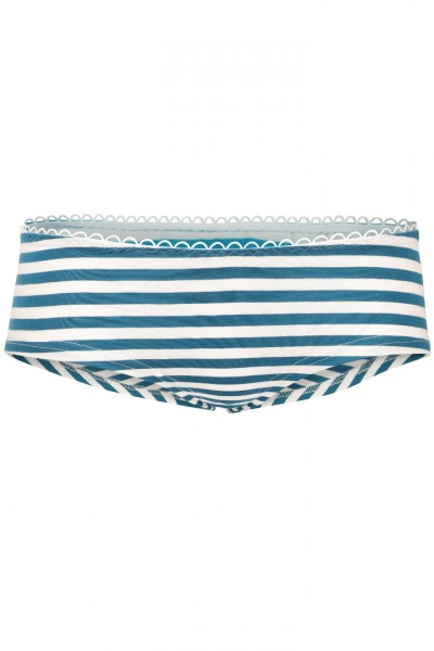 Bio hipster panties teal white stripes