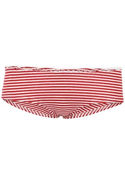 Bio hipster panties red white stripes