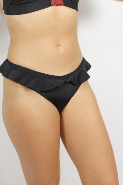 Recycling Bikinihose Volanti uni schwarz