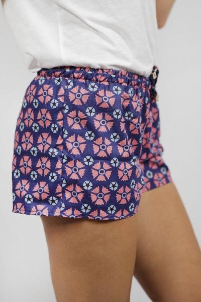 Bio Shorts Smölla blau Blossom