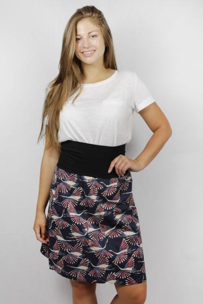 Organic skirt Freudian crane / black