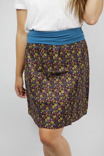 Organic skirt Freudian summer garden brown