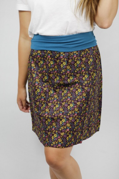 Organic skirt Freudian summer garden brown
