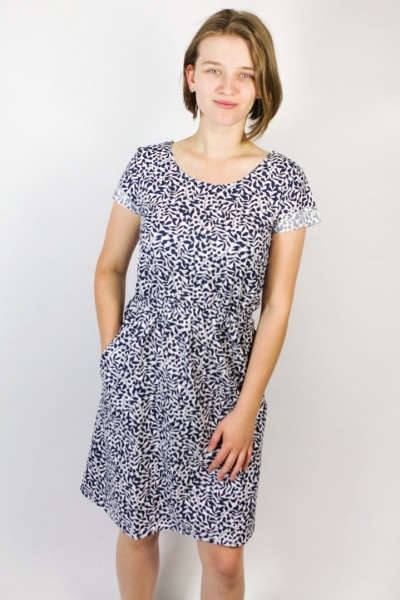 Organic dress Somrig laurel blue