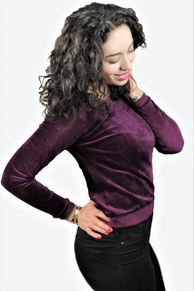 Bio Pullover Onne Nickisamt bordeaux