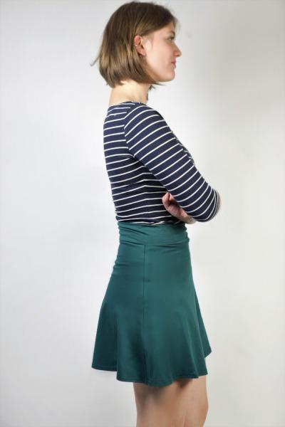Organic skirt Wave smaragd