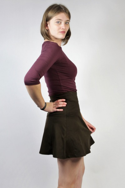 Organic skirt Wave brown