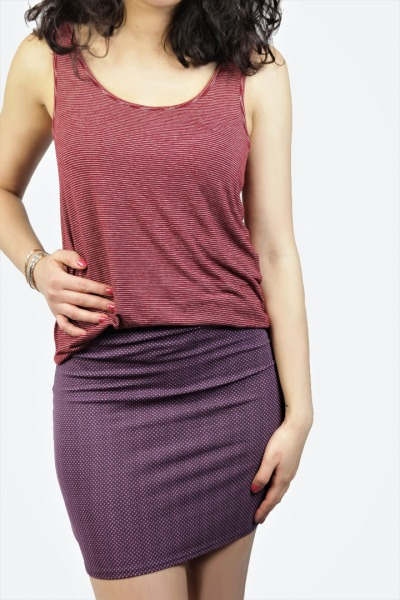 Organic skirt Snoba violett pink dots