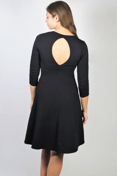 Organic jersey-dress Mylo black