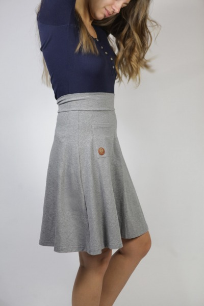 Organic skirt Welle lang tinged in