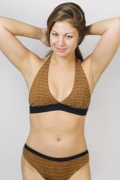 Bio Bikini Fjorde slage rost / schwarz