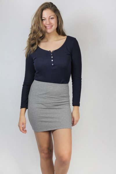 Organic skirt Snoba tinged in grey