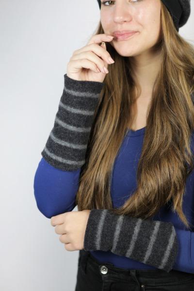 Organic wrist warmers Lumi merino wool