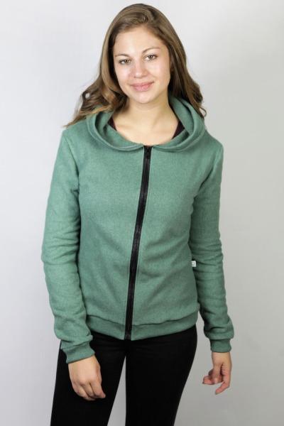 Bio Fleece-Jacke Lumi grün